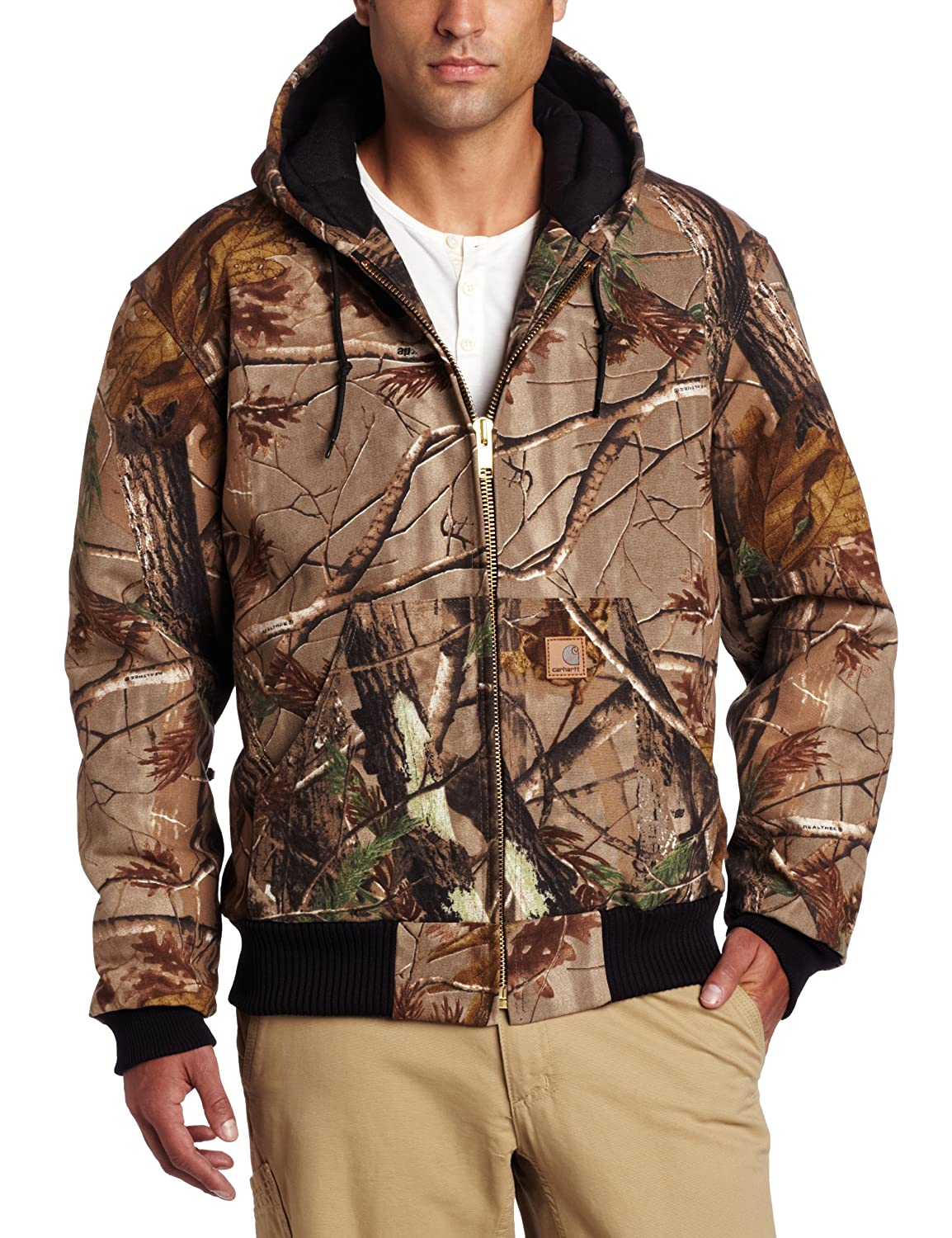 Carhartt Men's Quilted Flannel Lined Camo Active Jacket Carhartt Sportswear - Mens J221