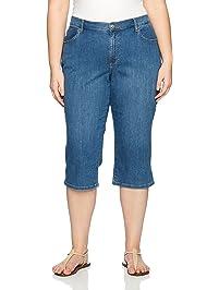 01114d92ada Lee Women s Plus-Size Relaxed-Fit Denim Capri Pant