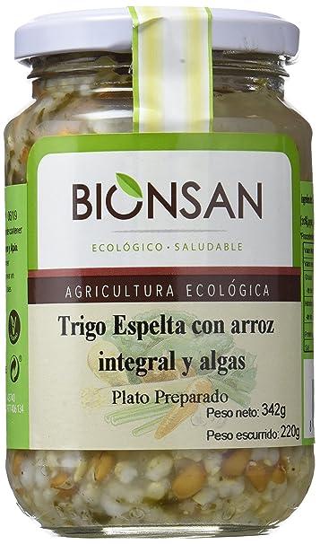 Bionsan Espelta con Arroz Integral y Algas - 6 Paquetes de 220 gr - Total: