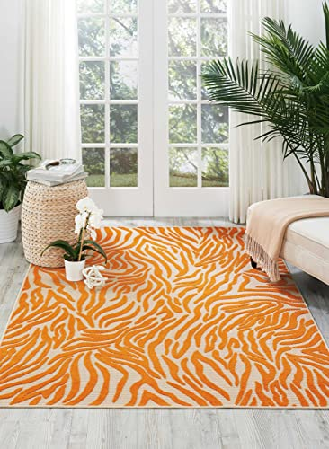 Nourison Aloha ALH04 Orange Rectangle Area Rug