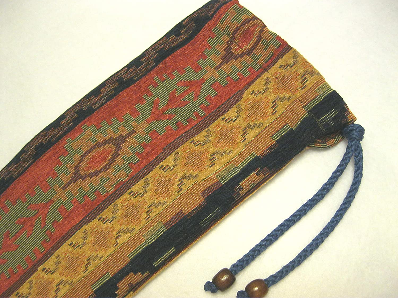 Native American Flute Bag - Beautiful Southwest - Heavy Woven Fabric