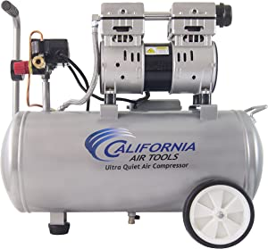 California Air Tools 8010 Ultra Quiet & Oil-Free 1.0 hp Steel Tank Air Compressor