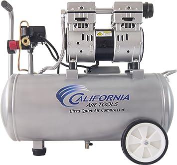 California Air Tools 8010 Ultra Quiet & Oil-Free 1.0 hp Steel Tank ...