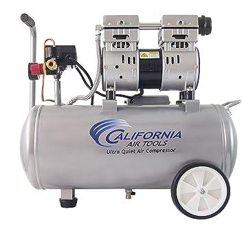 California Air Tools 8010 Ultra silencioso y sin Aceite compresor de aire 1.0 HP depósito de acero, 8 L, color plateado: Amazon.es: Bricolaje y herramientas