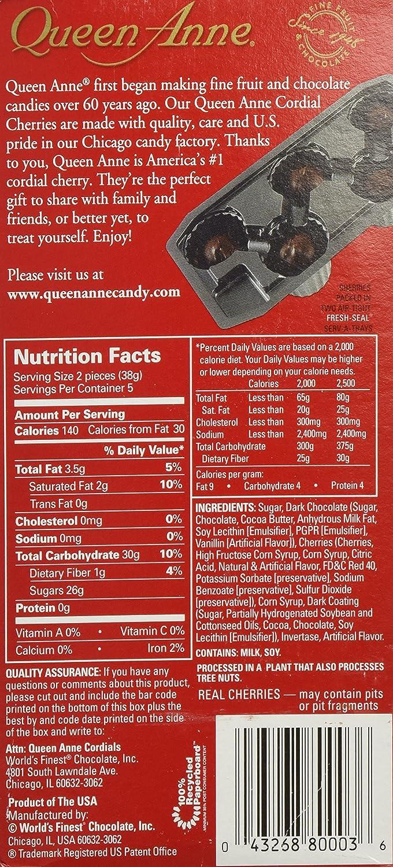 Amazon.com : Queen Anne Cordial Cherries Dark Chocolate 6.6 oz ...