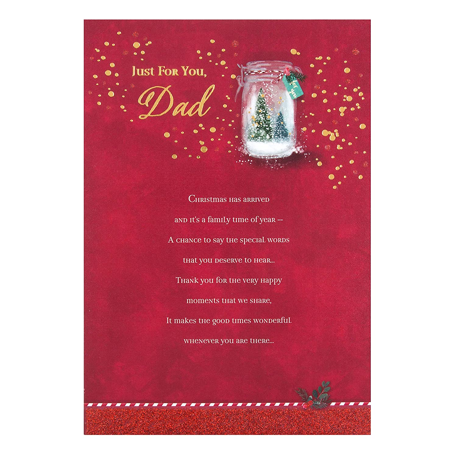 Hallmark Dad Christmas Card Special Season Medium Amazon