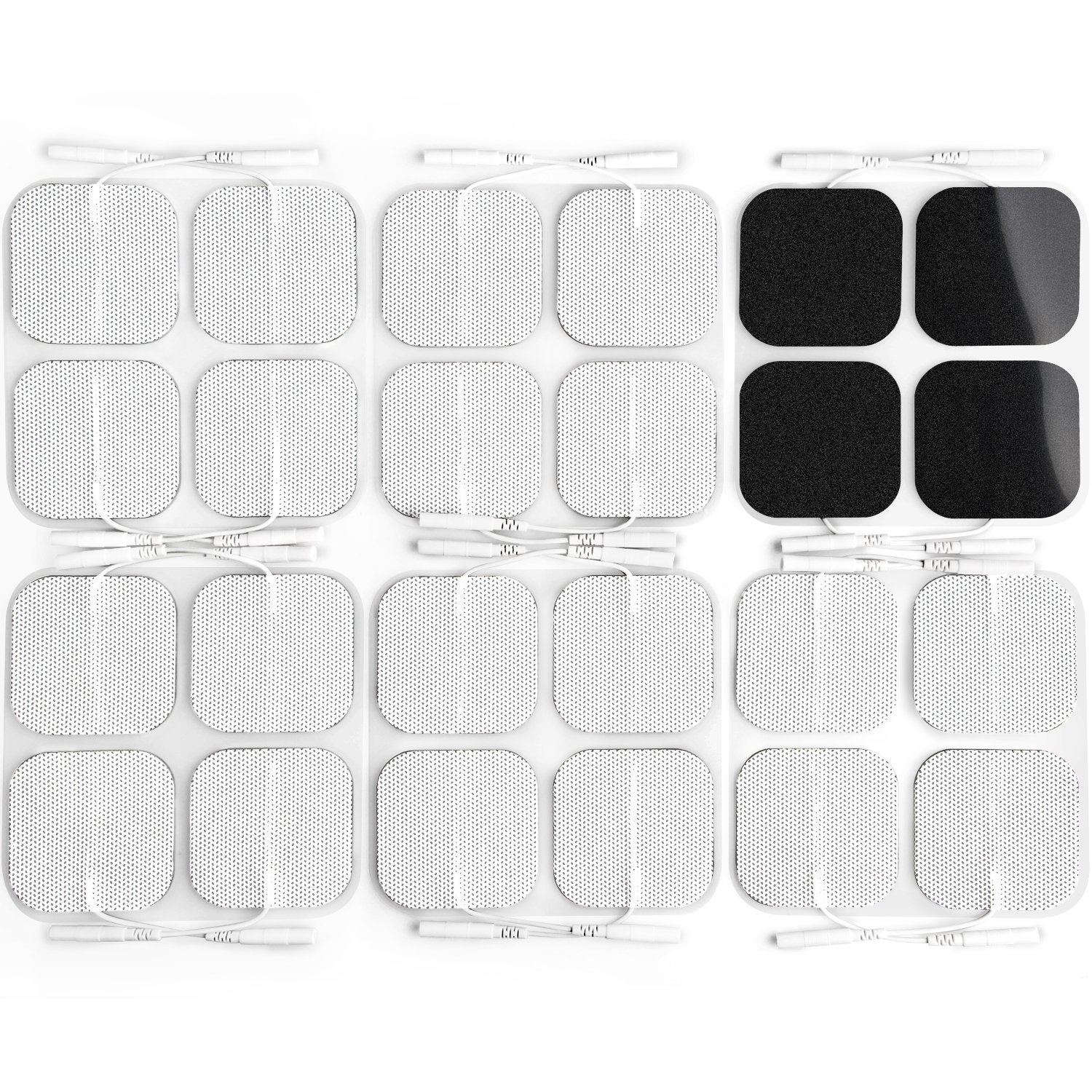 AUVON TENS Unit Pads 2X2 24-Pack, 2nd Gen Latex-Free Replacement Pads Electrode Patches (FDA 510K Cleared) with Upgraded Self-Stick Performance and Non-Irritating Design for Electrotherapy