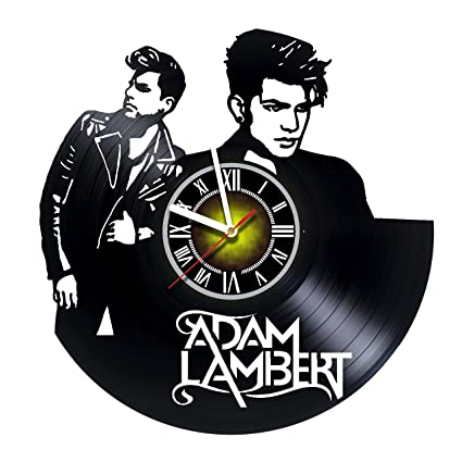 b34b400ec80ea Toffy Workshop Adam Lambert - Vinyl Record Wall Clock - Exciting music guest  room decor idea