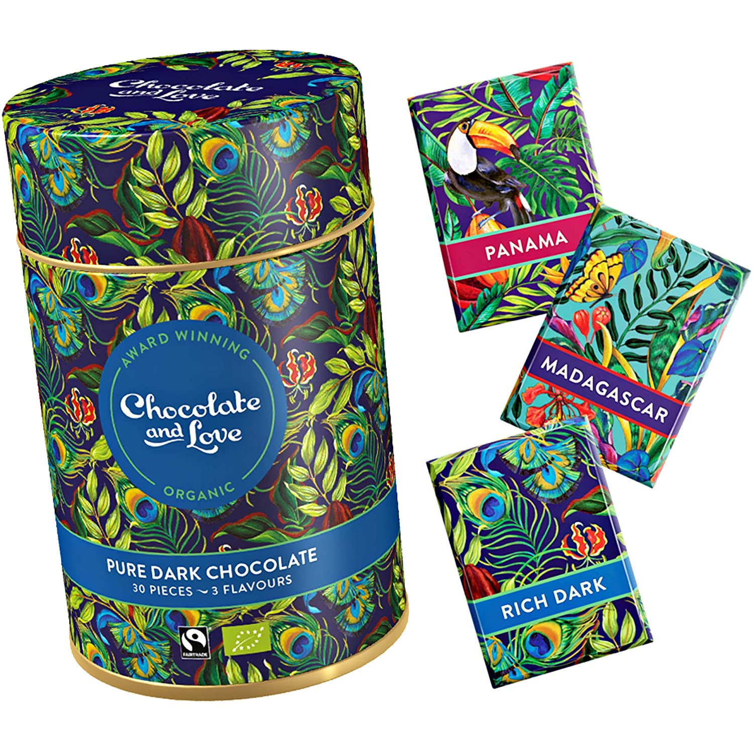 Chocolate And Love Rich Dark Gift Tin Containing 165 G