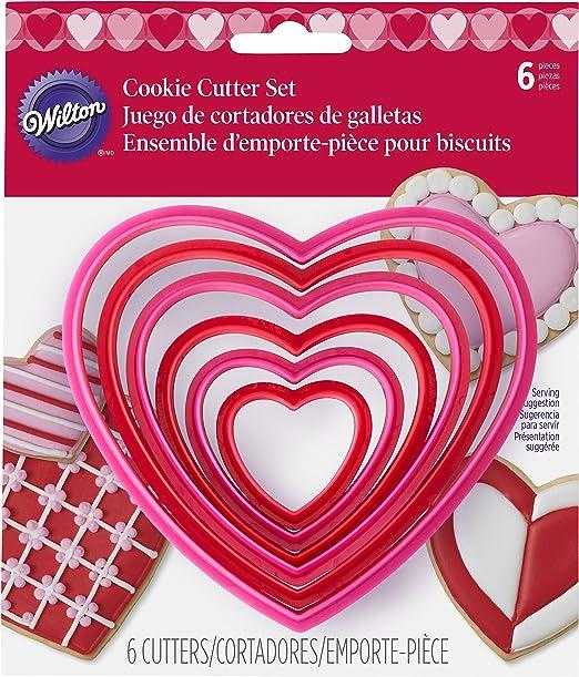 Wilton Hearts Nesting Cookie Cutter Set 6 Piece
