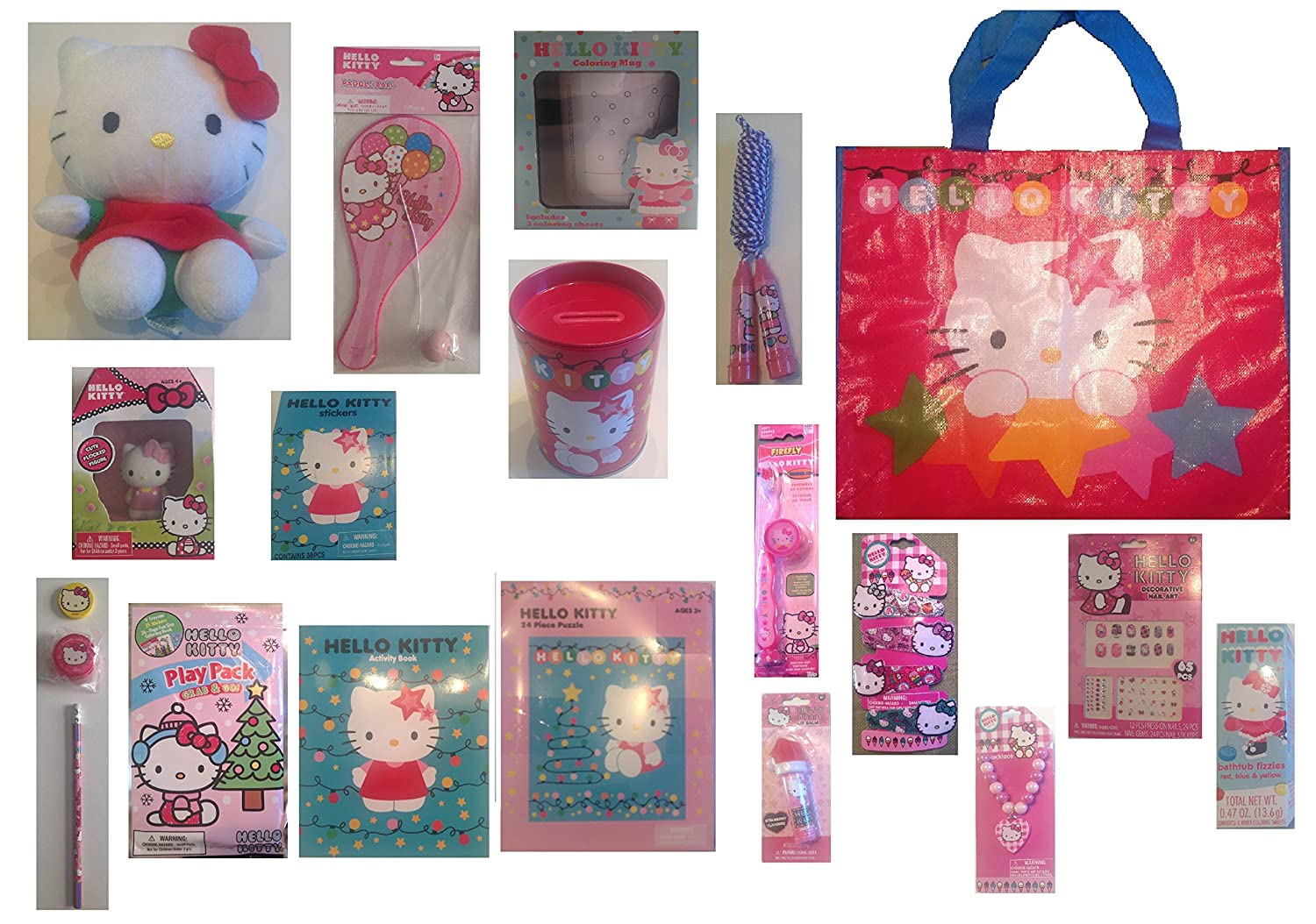 Hello Kitty 3D Crayons Great Stocking Filler 4 Shaped Kitty Crayons