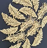 15/Set Pre-Made Edible GOLD Feathers - Ready to Use Edible Lace