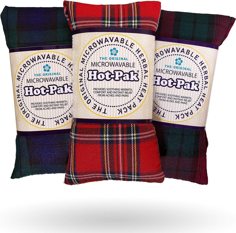 Award Winning Lavender Wheat Bag Cushion Intelex Microwaveable TARTAN Hot Pak