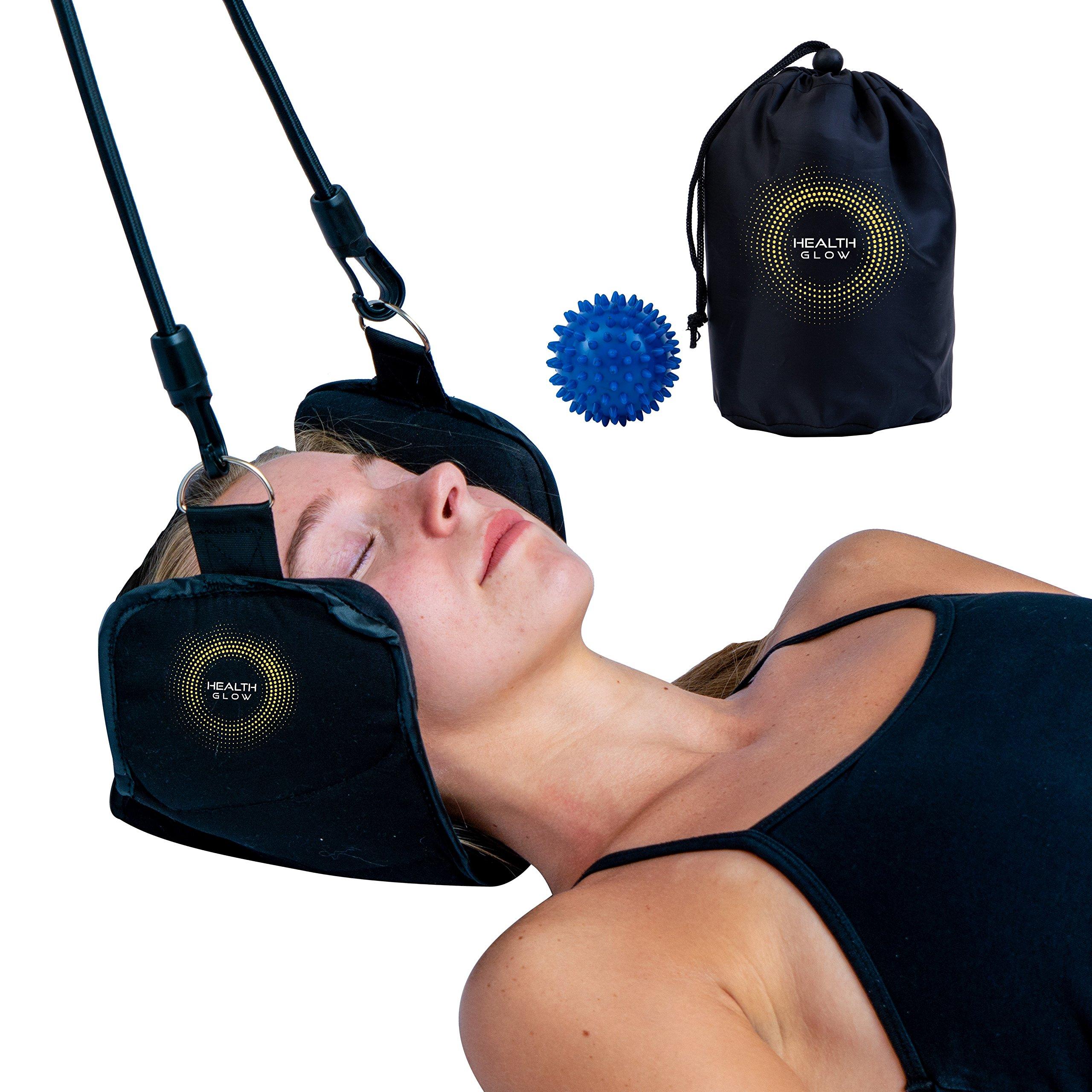 Premium Hammock for Neck Pain | Portable Cervical Traction Device | Neck Pain Relief | Bonus Massage Ball