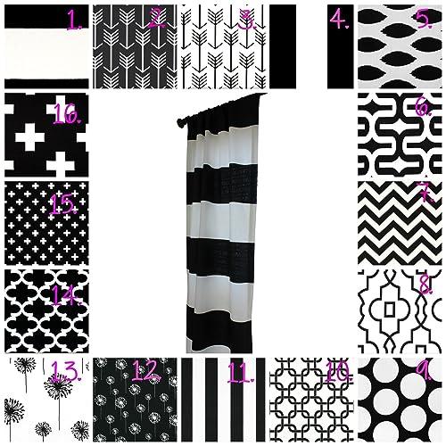 black and white nursery curtains monochrome drapery panel set black and white curtain panel set black