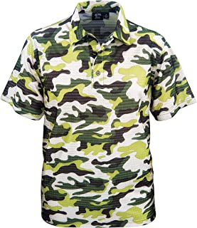 product image for Akwa Men's Made in USA Camouflage Camo Polo Shirt with Moisture Wicking Polyester