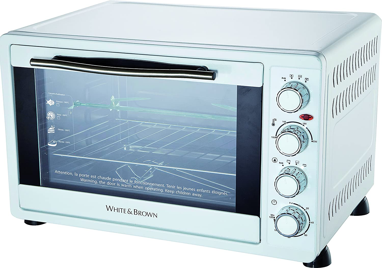 White & Brown f97130230 horno multifunción (55 L, 2200 W, color ...