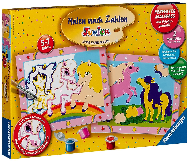 Ravensburger 27723 - Süsse Ponys - Malen nach Zahlen Junior, 30 x 24 ...