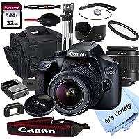 Deals on Canon EOS 4000D DSLR Camera w/18-55mm f/3.5-5.6 Lens Bundle