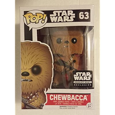 Funko POP! Star Wars Flocked Chewbacca Smuggler's Bounty Exclusive #63 by OPP: Toys & Games
