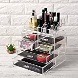 22 Compartment Makeup Organiser Stand Storage Display Beauty Holder Rack