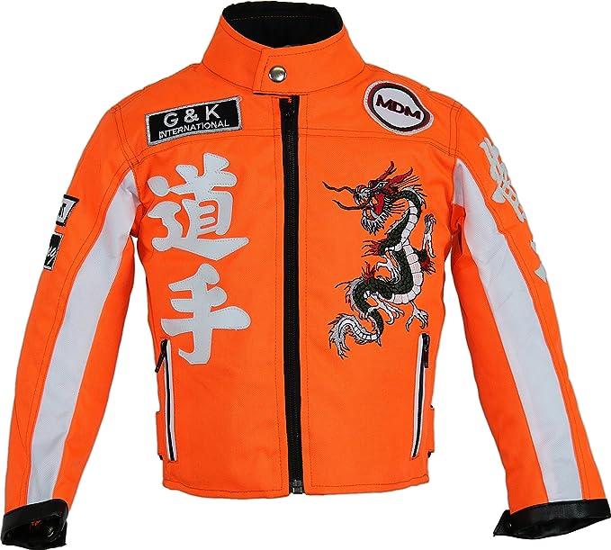Kinder Motorradjacke Bikerjacke Motorrad Racing Winddicht Patch Biker WM Fashion