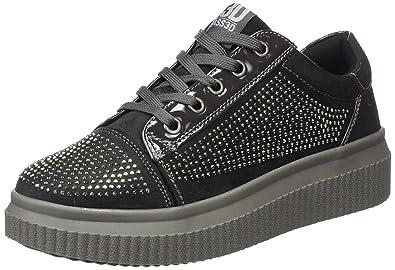 041372, Baskets Femme, Noir (Black Black), 40 EUBASS3D