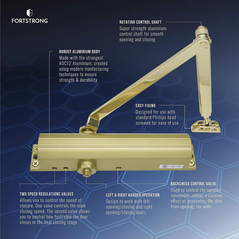 Details about  /Gold Heavy Duty Door Closer FS-9200 Grade 1 Commercial Standard Automatic Door C