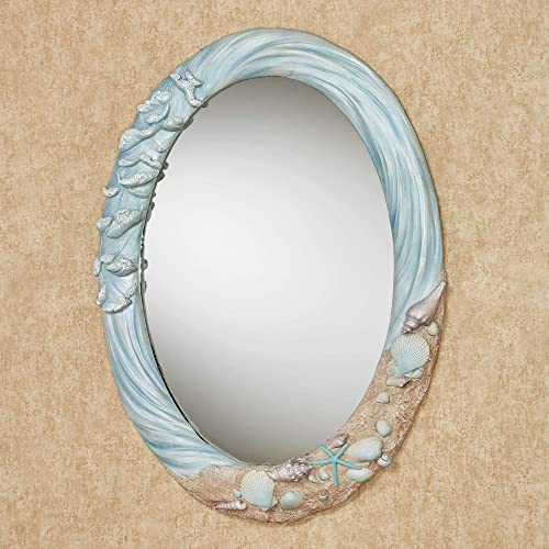 Touch of Class Rising Tides Wall Mirror Blue One Size