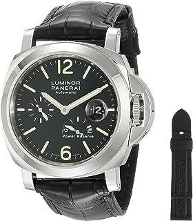 Panerai Mens PAM00090 Luminor Power Reserve Black Dial Watch