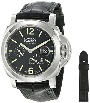 watch luminour steel swiss panerai collection luminor watches image pam officine gmt stainless