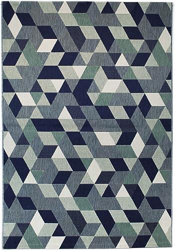 Balta Rugs Felix Modern Geometric Area Rug, Blue, 7 10 x 10