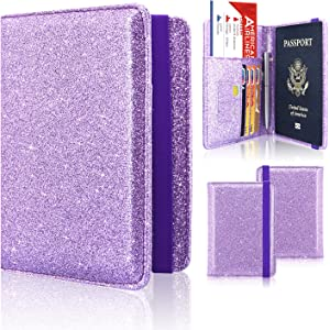 9d9a7c470214 Amazon.com: TENDYCOCO Glitter Passport Holder, Travel Wallet RFID ...