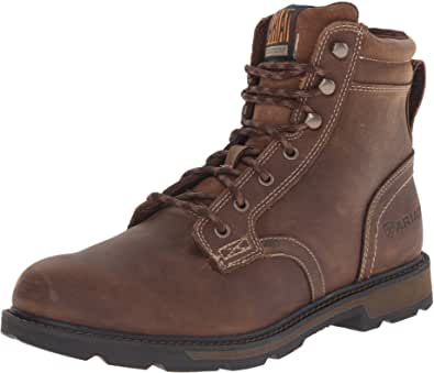 Amazon Com Ariat Groundbreaker 6 Work Boot Men S Safety Toe Lace Up Work Boot Industrial Construction Boots