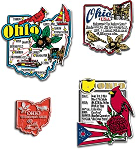 Ohio Four-Piece State Magnet Set