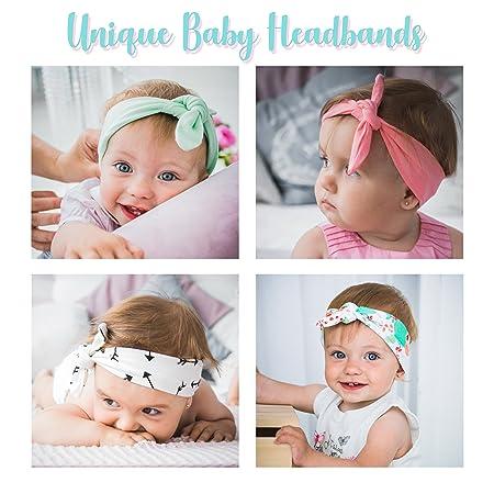 Amazon.com   JLIKA Baby Girl Headbands Cotton Knotted Headband Headwrap  Modern Turban Fashion Head Band Wrap Rabbit Ear Bows for newborns infants  toddlers ... 2bdddf1c282
