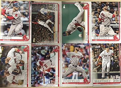 sports shoes d67b5 abe8d 2019 Topps Series 1 Boston Red Sox Base Team Set 16 Cards ...