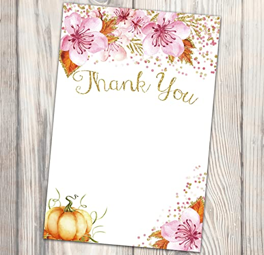 Amazon Com Pumpkin Thank You Card Fall Thank You Note Our