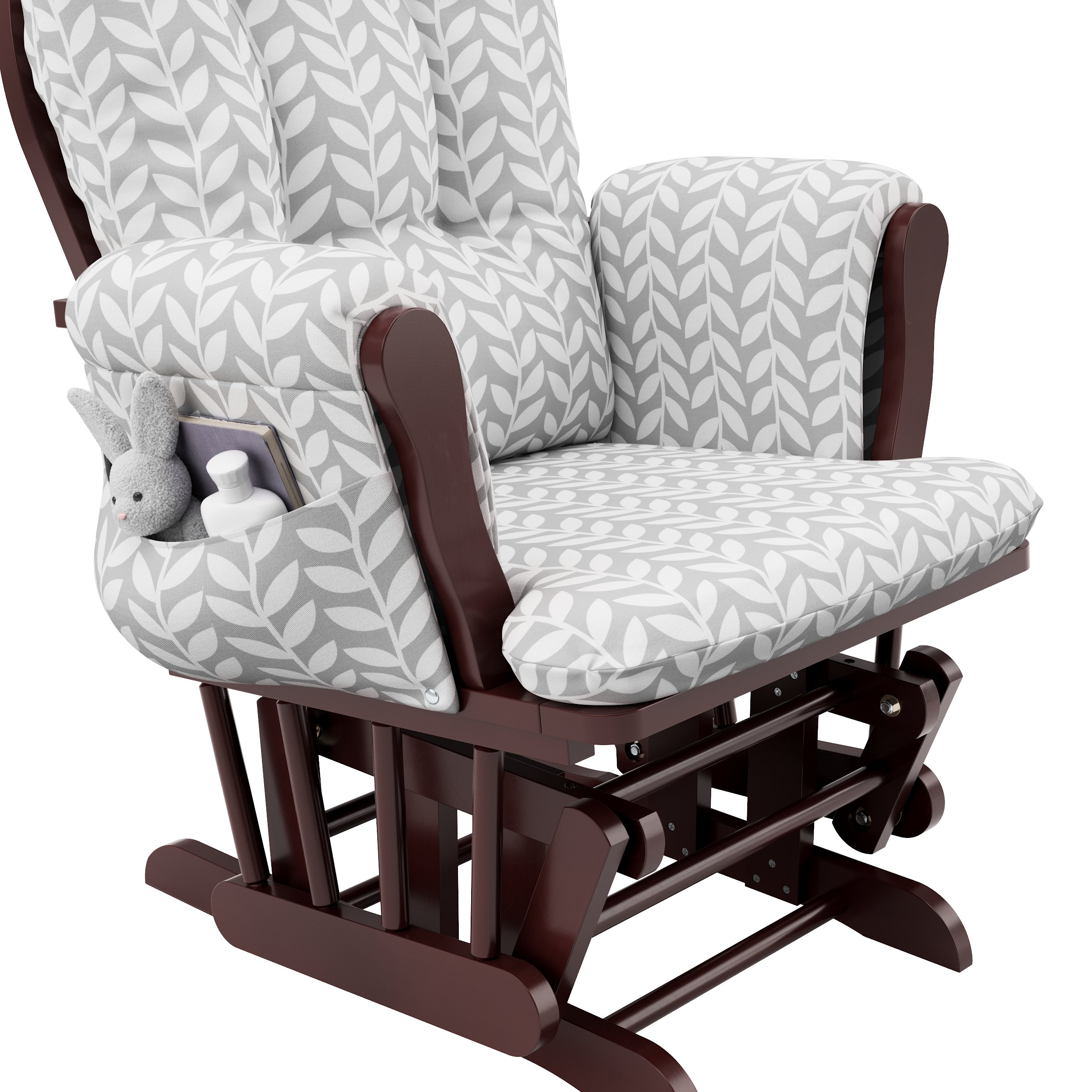 Stork Craft Hoop Glider and Ottoman, Cherry/Light Gray Vine by Stork Craft (Image #3)