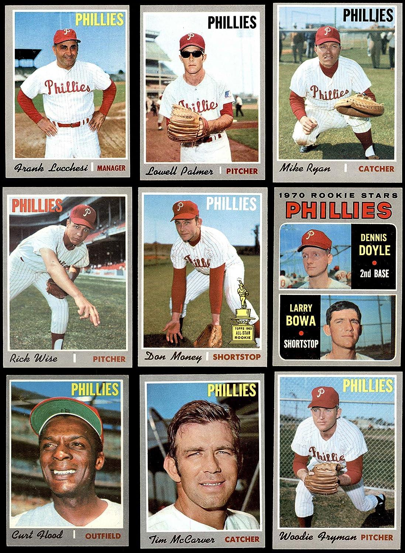 1970 Topps Philadelphia Phillies Team Set Philadelphia Phillies (Baseball Set) Dean's Cards 7 - NM Phillies 91PXYuL-nCLSL1500_