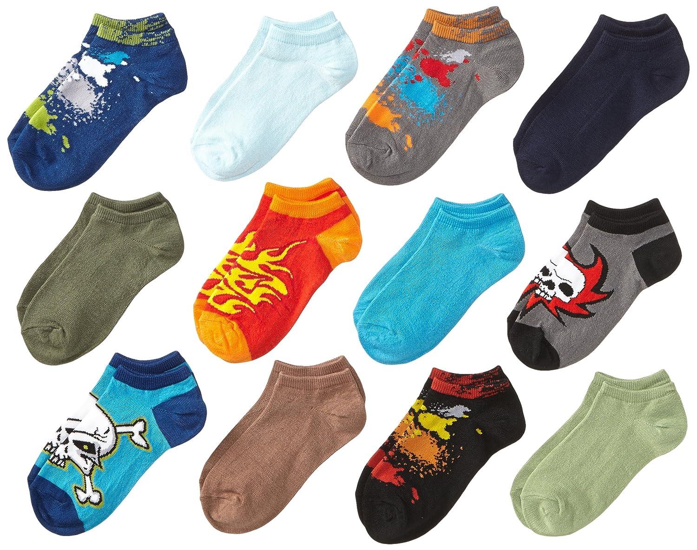 K.Bell Black Label Big Boys 12 Pack Space and Sports Socks Assort 6-8.5