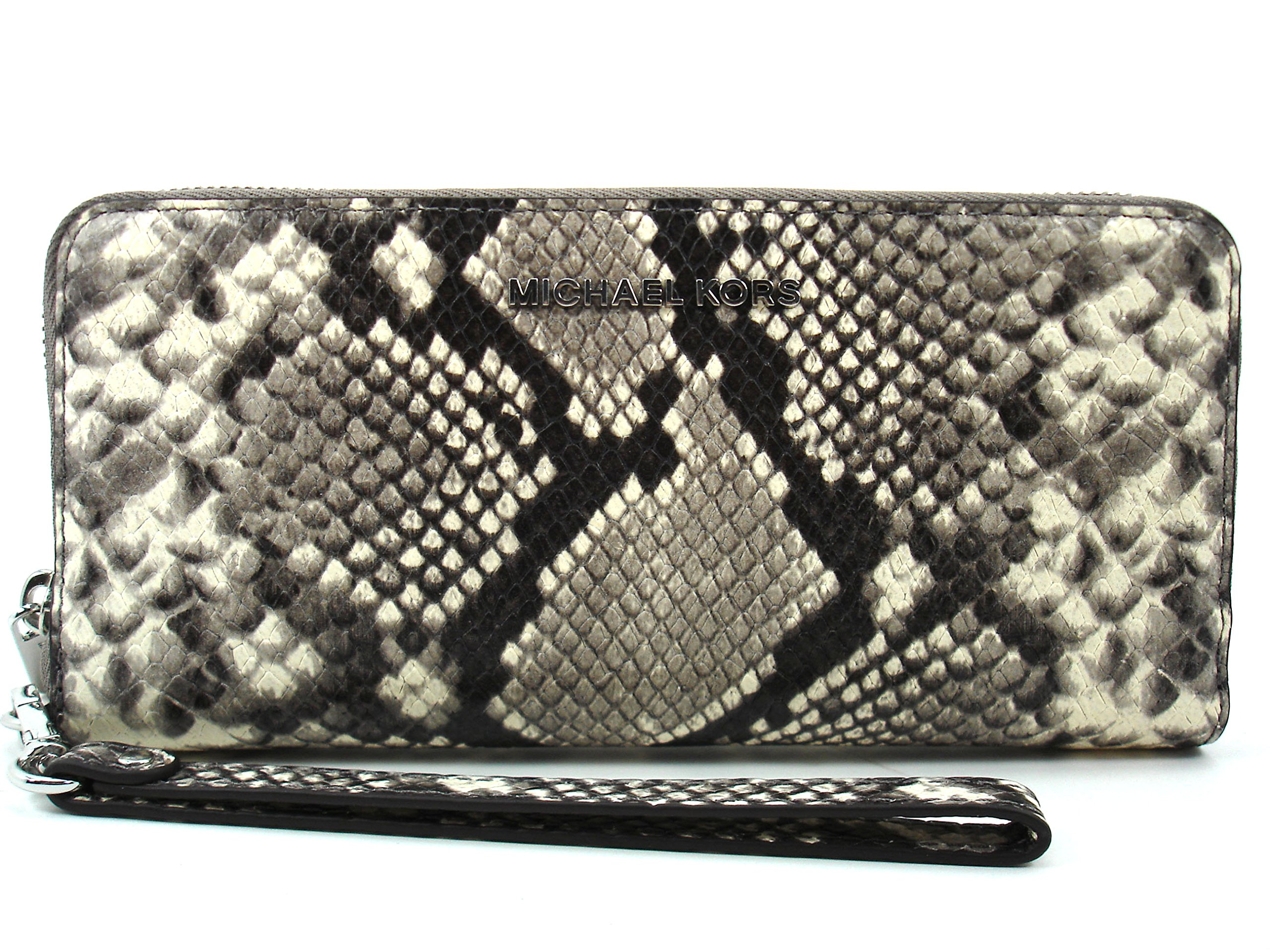 Michael Kors Women's Jet Set Travel Embossed Leather Wristlet - Natural by Michael Kors (Image #1)