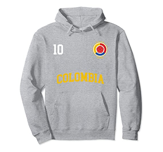 Amazon.com: Colombia Soccer Hoodie No. 10 Colombian Flag Camiseta Futbol: Clothing