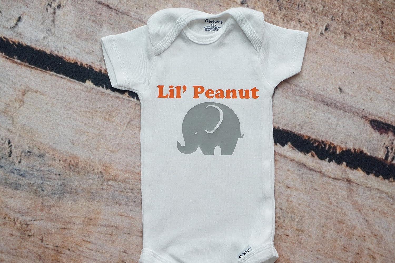c7ada74252e2 Lil peanut elephant baby onesies handmade jpg 1500x1000 Little peanut  elephant vinyl boy onesies