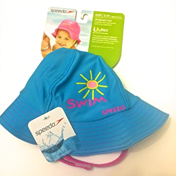 f90bbdb101f UV 50 Sun Protection Bucket Hat 6-12 Months Kids Sunblock Hat with Ajustble  Strap By Speedo