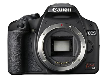 amazon com canon eos kiss x3 15 1 mp cmos digital slr camera body rh amazon com
