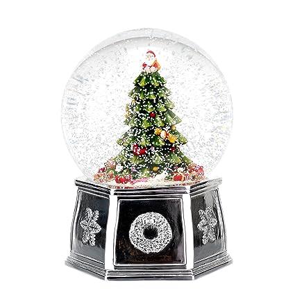 spode christmas tree musical tree snow globe large