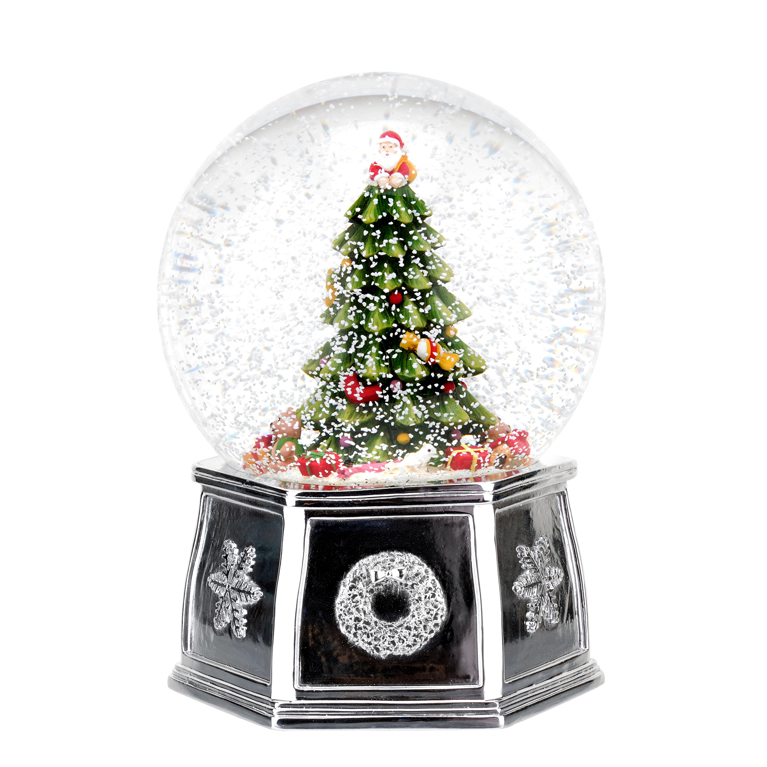 Spode Christmas Tree Musical Tree Snow Globe, Large