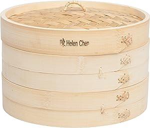 Helen-Chen's-Asian-Kitchen-Bamboo-Steamer-Basket