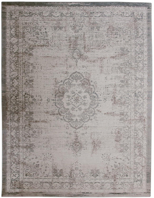 Modex Vintage-Teppich   beige braun silber   Orientteppich Maße 230cm  230cm
